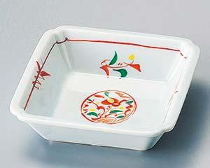 和食器 ホ094-186 オレンジ花角鉢