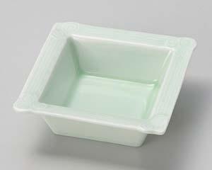 和食器 タ094-266 もえぎ渦正角鉢