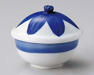 【まとめ買い10個セット品】和食器 ホ106-327 ブルー花だえんむし碗【キャンセル/返品不可】【厨房館】