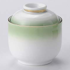 【まとめ買い10個セット品】和食器 ロ111-036 グリーンむし碗 【キャンセル/返品不可】【厨房館】