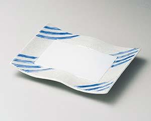 【まとめ買い10個セット品】和食器 ミ137-086 ブルー線ラスターウエーブ焼物皿 【キャンセル/返品不可】【厨房館】