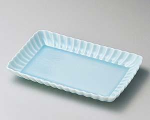 【まとめ買い10個セット品】和食器 ユ140-076 かすみ青白17cm長角皿 【キャンセル/返品不可】【厨房館】