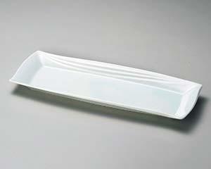 【まとめ買い10個セット品】和食器 ア152-026 青白磁長角皿 【キャンセル/返品不可】【厨房館】
