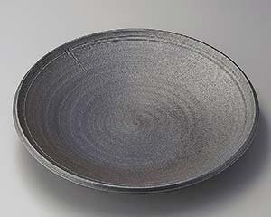 【まとめ買い10個セット品】和食器 メ164-016 炭化ロクロ目13.0大皿 【キャンセル/返品不可】【厨房館】
