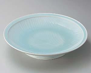【まとめ買い10個セット品】和食器 ト165-056 青白磁静流尺皿 【キャンセル/返品不可】【厨房館】
