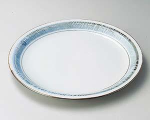 【まとめ買い10個セット品】和食器 ヨ168-056 淡彩ラインリム尺寸皿 【キャンセル/返品不可】【厨房館】
