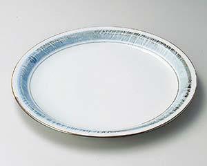 【まとめ買い10個セット品】和食器 ヨ168-066 淡彩ラインリム9.0寸皿 【キャンセル/返品不可】【厨房館】