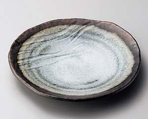和食器 ミ173-066 窯変金彩変形9.0皿