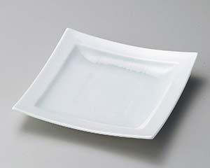 【まとめ買い10個セット品】和食器 ア184-107 白磁縞織正角皿大【キャンセル/返品不可】【厨房館】