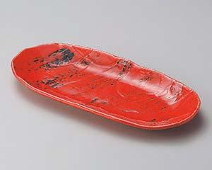 【まとめ買い10個セット品】和食器 タ191-047 紅楕円長皿【キャンセル/返品不可】【厨房館】