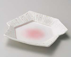 【まとめ買い10個セット品】和食器 ミ198-106 ピンク吹一珍ラスター変形皿 【キャンセル/返品不可】【厨房館】