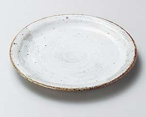 【まとめ買い10個セット品】和食器 イ206-077 白刷毛たたき6.0皿【キャンセル/返品不可】【厨房館】