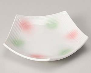 【まとめ買い10個セット品】和食器 ユ209-047 淡雪二色吹 五角皿(小)【キャンセル/返品不可】【厨房館】