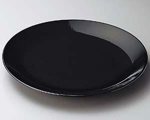 和食器 ス228-066 黒釉10号丸皿