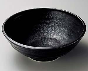和食器 ハ251-166 黒水晶荒引大鉢