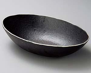 和食器 ア253-156 黒釉だ円盛鉢