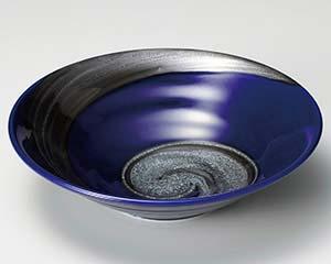 和食器 ハ253-176 銀彩ブルーリップル7.0鉢