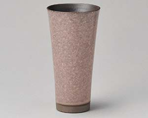 【まとめ買い10個セット品】和食器 テ268-166 ピンクかいらぎロングビヤーカップ 【キャンセル/返品不可】【厨房館】