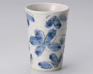 【まとめ買い10個セット品】和食器 ユ270-047 花園藍フリーカップ【キャンセル/返品不可】【厨房館】