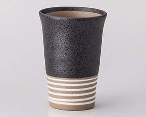 和食器 イ272-396 黒結晶一口カップ 【キャンセル/返品不可】【厨房館】