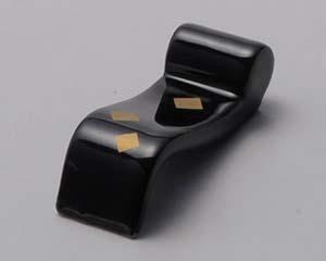 和食器 ミ285-046 黒市松巻き物型箸置 【キャンセル/返品不可】【厨房館】