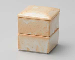 和食器 ウ295-386 志野四角二段重