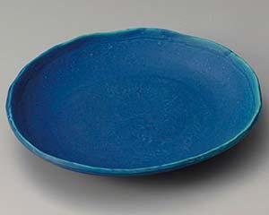 【まとめ買い10個セット品】和食器 ア304-207 トルコブルー楕円皿【キャンセル/返品不可】【厨房館】