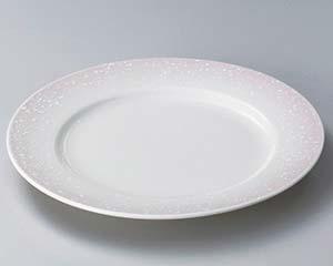 【まとめ買い10個セット品】和食器 ミ306-116 ピンク白吹リム付8.5寸皿 【キャンセル/返品不可】【厨房館】