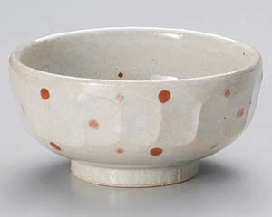 和食器 ユ325-196 紅水玉彫り5.5鉢