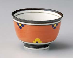 和食器 テ342-156 赤巻小花4.3多用碗
