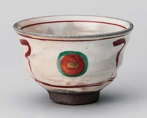 【まとめ買い10個セット品】和食器 ユ354-257 赤絵丸紋茶碗【キャンセル/返品不可】【厨房館】