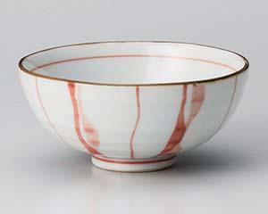 和食器 ユ361-366 ゆらり十草(紅)茶碗(小)