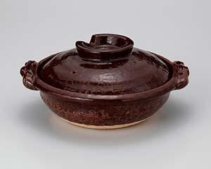 和食器 メ394-046 アメ釉7号鍋 【キャンセル/返品不可】【厨房館】