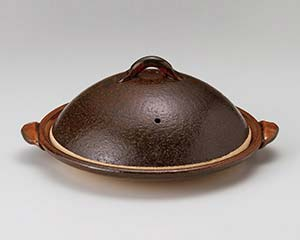 和食器 メ395-177 10号陶板(蓋付) 【厨房館】