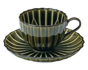 【まとめ買い10個セット品】和食器 イ441-367 ぎやまん 利休 GREEN コーヒー碗皿【キャンセル/返品不可】【厨房館】