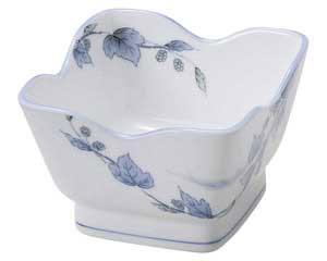 【まとめ買い10個セット品】和食器 オ476-557 清彩つた 花角4.5小鉢【キャンセル/返品不可】【厨房館】