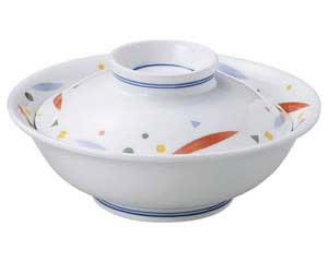 【まとめ買い10個セット品】和食器 オ479-557 はなやぎ 蓋付煮物碗(組)【キャンセル/返品不可】【厨房館】