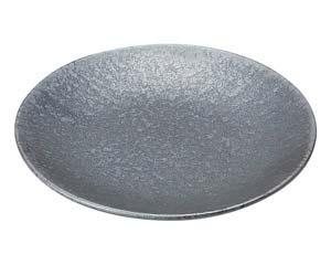 【まとめ買い10個セット品】和食器 タ443-057 窯変銀彩結晶 丸7.0皿【キャンセル/返品不可】【厨房館】