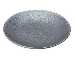 【まとめ買い10個セット品】和食器 タ443-067 窯変銀彩結晶 丸8.0皿【キャンセル/返品不可】【厨房館】