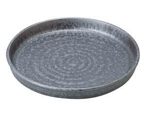 【まとめ買い10個セット品】和食器 タ443-137 窯変銀彩結晶 切立7.0盛皿【キャンセル/返品不可】【厨房館】