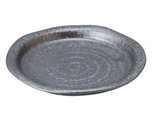 【まとめ買い10個セット品】和食器 タ443-247 窯変銀彩結晶 ツバ付7.5皿【キャンセル/返品不可】【厨房館】