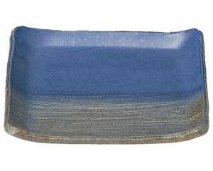 【まとめ買い10個セット品】和食器 ツ467-647 藍華 手造り正角皿【キャンセル/返品不可】【厨房館】