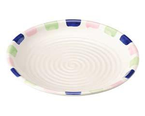 【まとめ買い10個セット品】和食器 ツ464-117 めるへん 丸尺皿【キャンセル/返品不可】【厨房館】