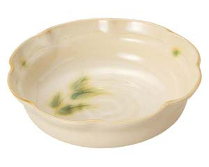 【まとめ買い10個セット品】和食器 ロ464-567 彫芦 花型大鉢【キャンセル/返品不可】【厨房館】