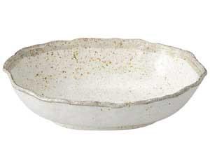 【まとめ買い10個セット品】和食器 ミ469-517 志野粉引 木の葉楕円鉢【キャンセル/返品不可】【厨房館】