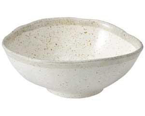 【まとめ買い10個セット品】和食器 ミ469-557 志野粉引 変形大鉢【キャンセル/返品不可】【厨房館】