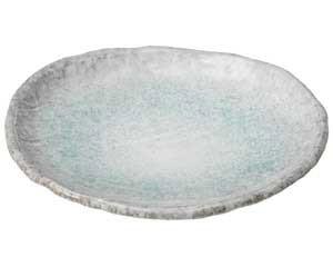 【まとめ買い10個セット品】和食器 ス472-067 青釉 8.5号皿【キャンセル/返品不可】【厨房館】