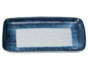 【まとめ買い10個セット品】和食器 オ480-627 藍彩 9.0焼物皿【キャンセル/返品不可】【厨房館】