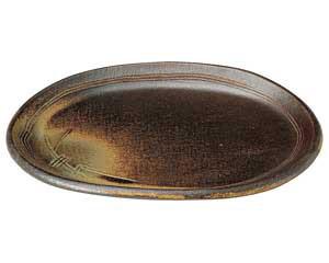 【まとめ買い10個セット品】和食器 ネ497-136 楕円皿(中) 【キャンセル/返品不可】【厨房館】