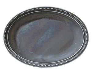 【まとめ買い10個セット品】ア524-117 窯彩27cm楕円皿【キャンセル/返品不可】【厨房館】